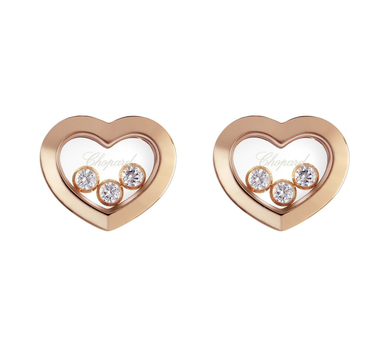Серьги Icons Heart Chopard Happy Diamonds 83A611-5001 - фото 1 – Mercury