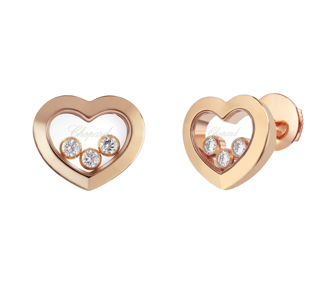 Серьги Icons Heart Chopard Happy Diamonds 83A611-5001 - фото 2 – Mercury