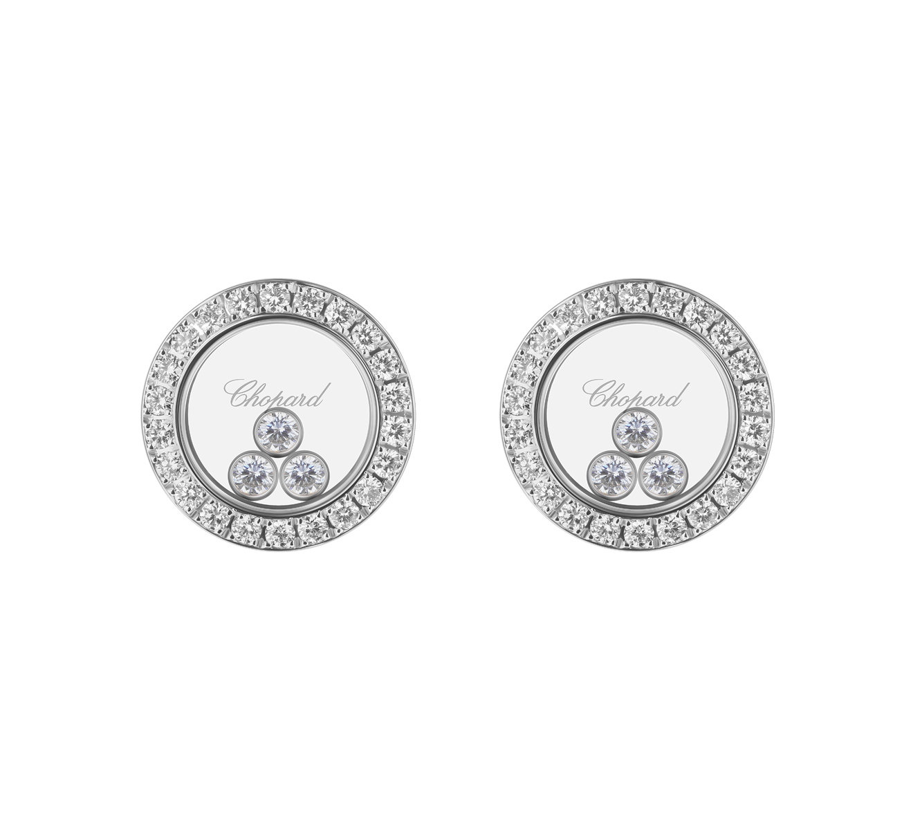 Серьги Icons Round Chopard Happy Diamonds 83A018-1201 - фото 1 – Mercury