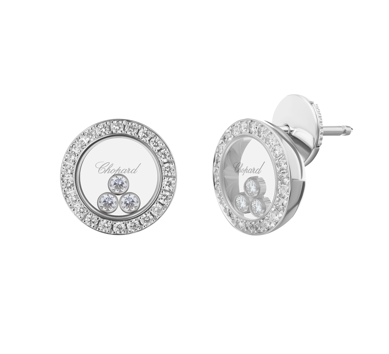 Серьги Icons Round Chopard Happy Diamonds 83A018-1201 - фото 2 – Mercury