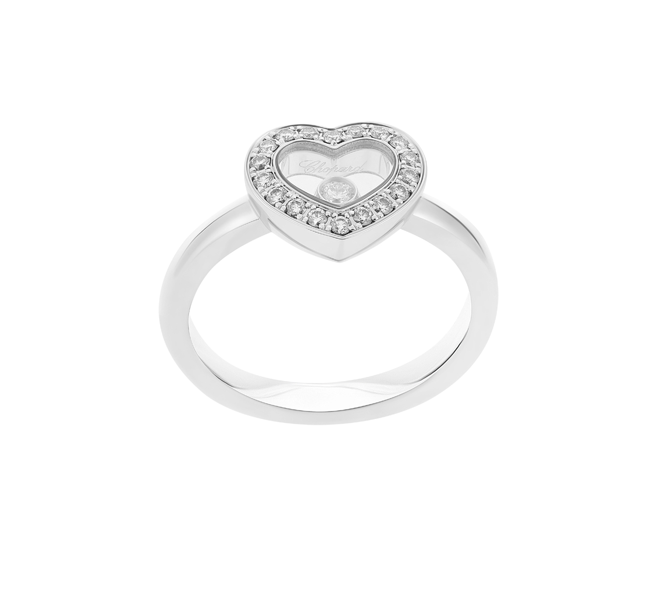 Кольцо Icons Heart Chopard Happy Diamonds 82A054-1210 - фото 2 – Mercury