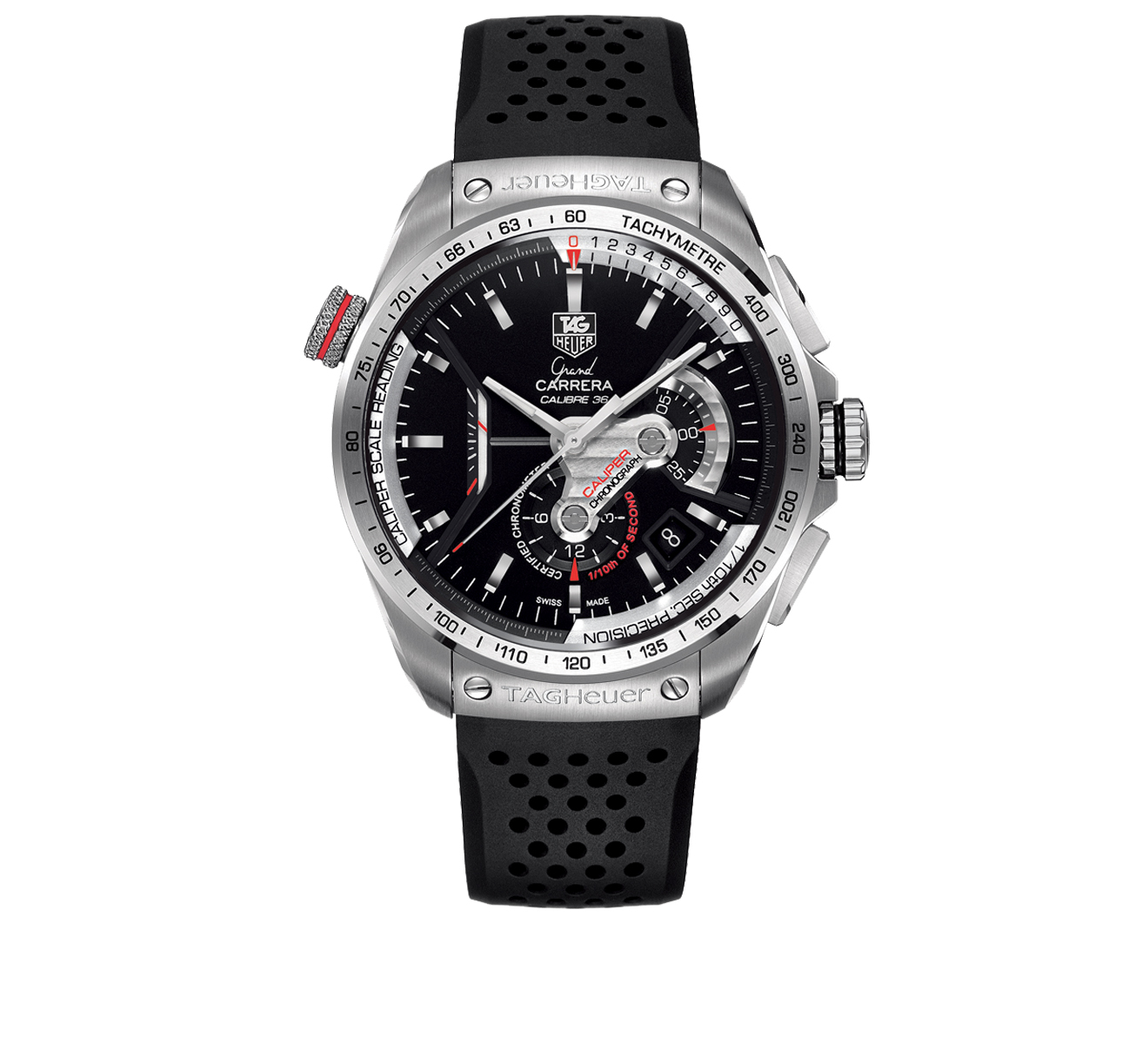 Часы Calibre 36 TAG Heuer Carrera CAV5115.FT6019 - фото 1 – Mercury