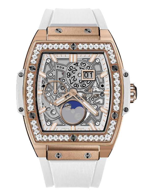 Часы Moonphase King Gold White Diamonds