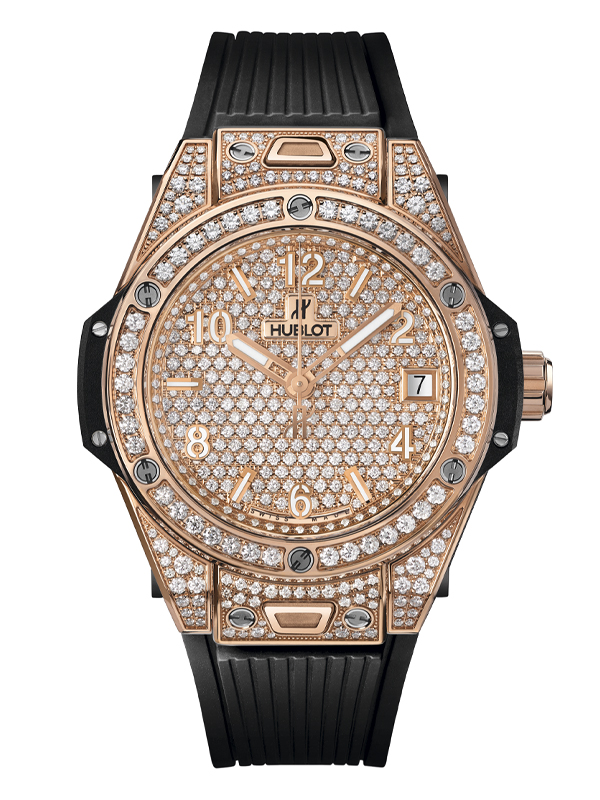 Часы One Click King Gold Full Pave