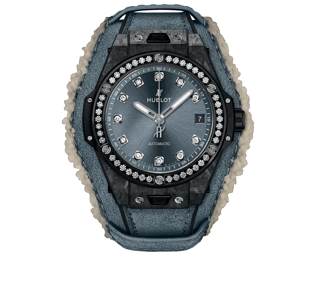 Часы One Click Frosted Carbon Diamonds HUBLOT Big Bang 465.QK.7170.VR.1204.ALP18 - фото 1 – Mercury