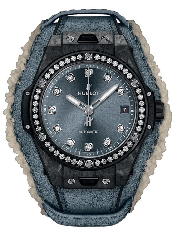 Часы One Click Frosted Carbon Diamonds