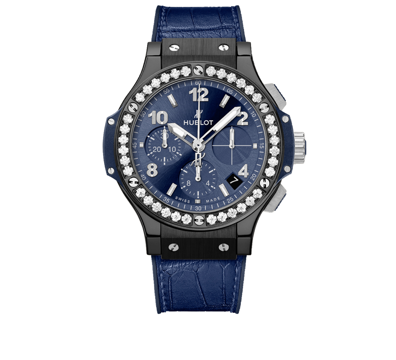 Часы Ceramic Blue Diamonds HUBLOT Big Bang 341.CM.7170.LR.1204 - фото 1 – Mercury