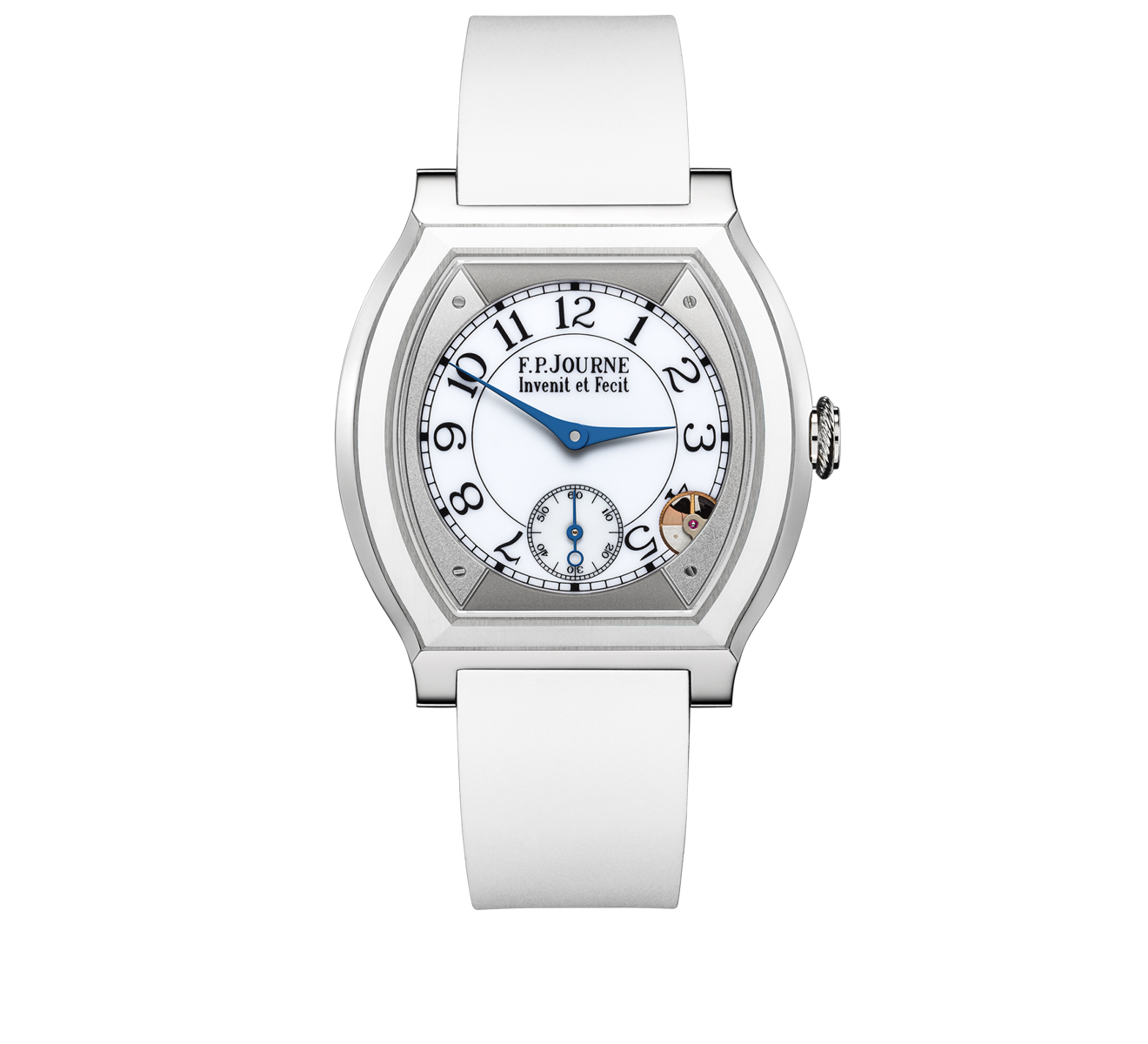 Часы 40 mm Titanium With Insert F.P.Journe Elegante ELEGANTE/40TI/WHITE CER/WHITE RUBBER - фото 1 – Mercury