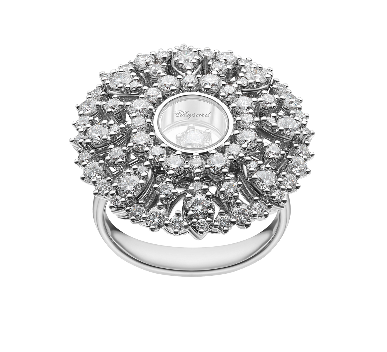 Кольцо Joaillerie Chopard Happy Diamonds 82A036-1110 - фото 3 – Mercury