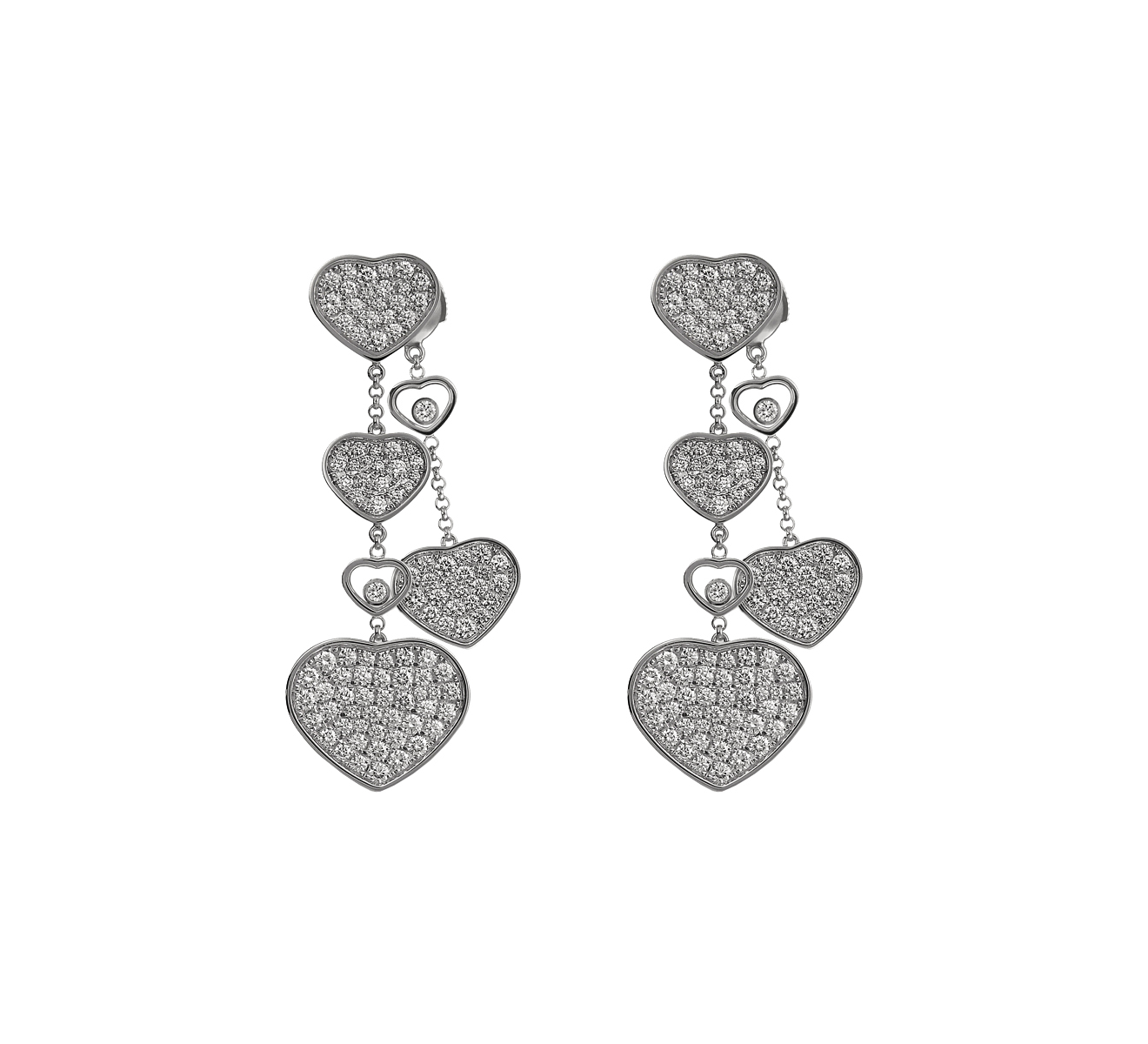 Серьги Happy Hearts Chopard Happy Diamonds 83A482-1009 - фото 1 – Mercury