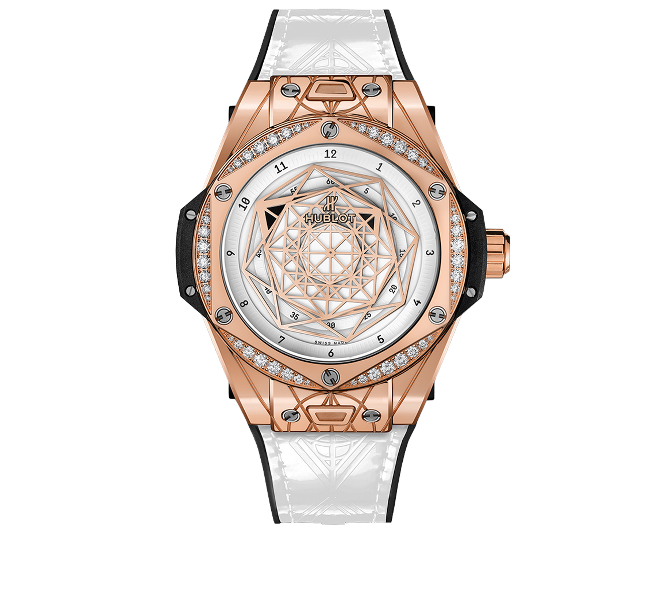 Часы Sang Bleu King Gold White Diamonds HUBLOT Big Bang 465.OS.2028.VR.1204.MXM19 - фото 1 – Mercury