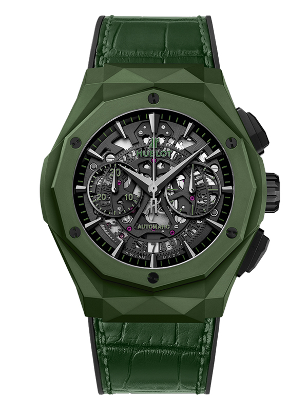 Часы Aerofusion Chronograph Orlinski Green Ceramic