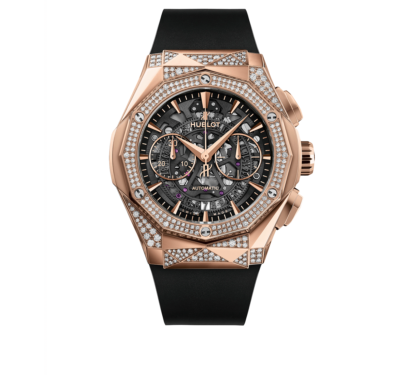 Часы Aerofusion Chronograph Orlinski King Gold Alternative Pavé HUBLOT Classic Fusion 525.OX.0180.RX.1804.ORL19 - фото 1 – Mercury