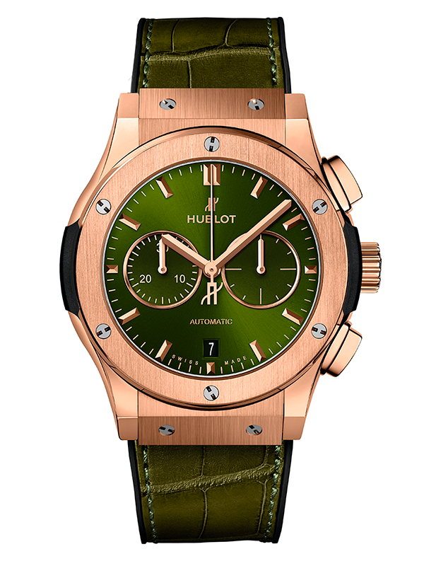 Часы Chronograph King Gold Green