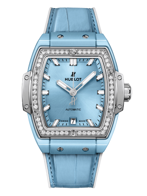Часы Light Blue Ceramic Titanium Diamonds
