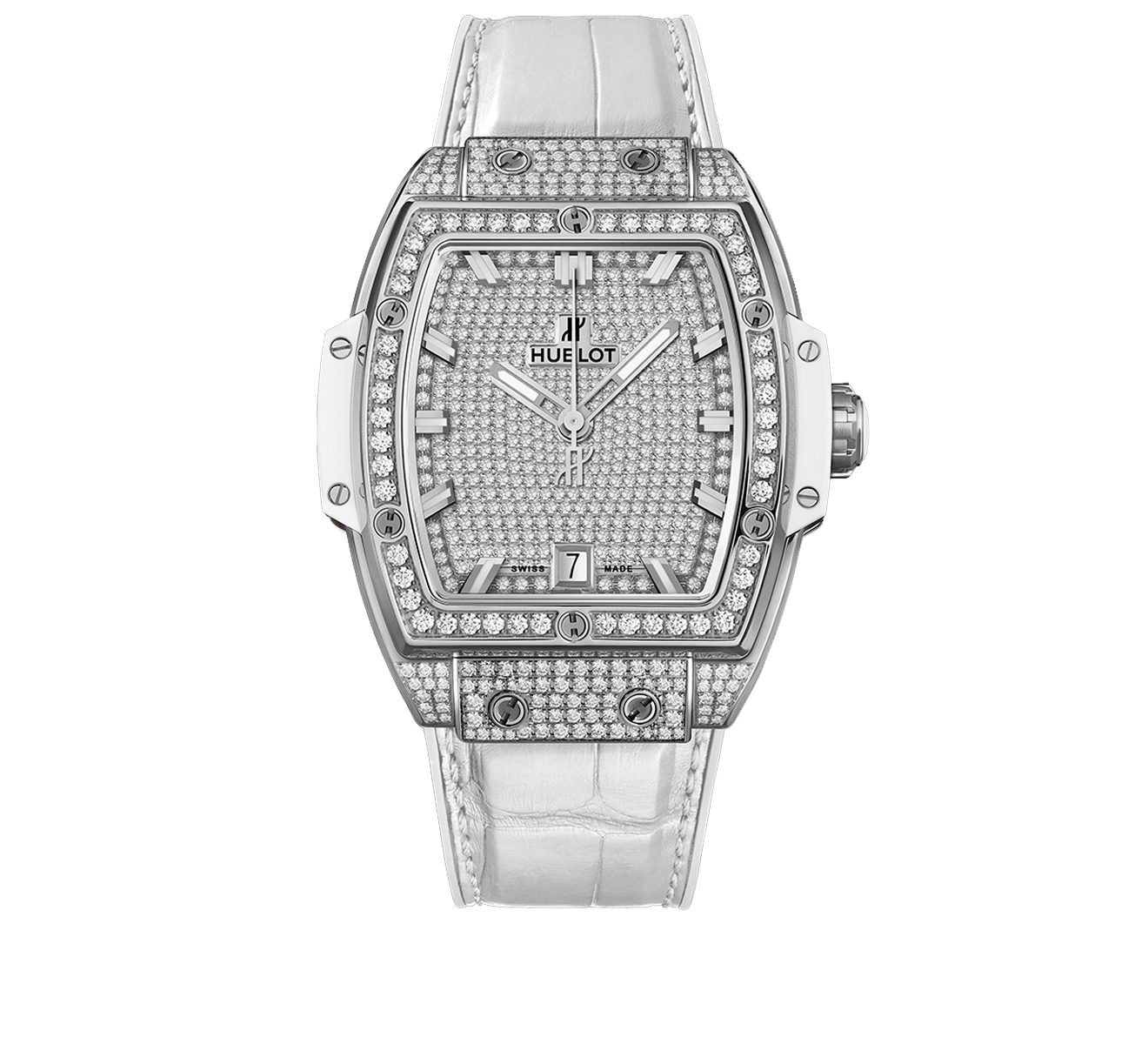 Часы Titanium White Full Pavé HUBLOT Spirit of Big Bang 665.NE.9010.LR.1604 - фото 1 – Mercury