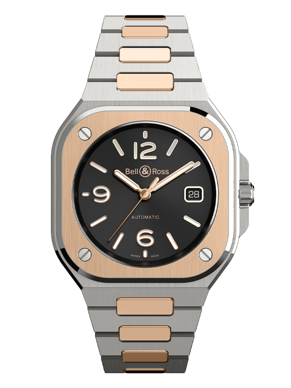 Часы BR 05 Steel And Rose Gold